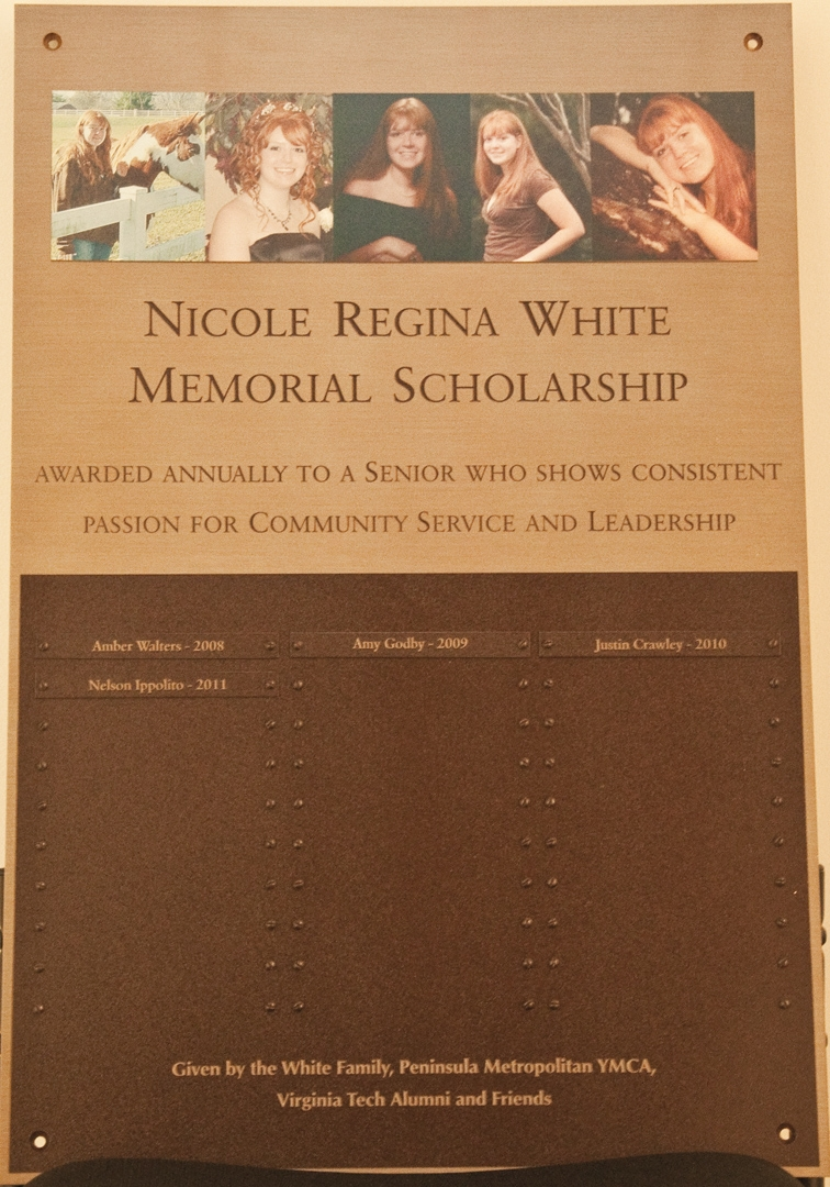 Nicole-White-Memorial-Plaque
